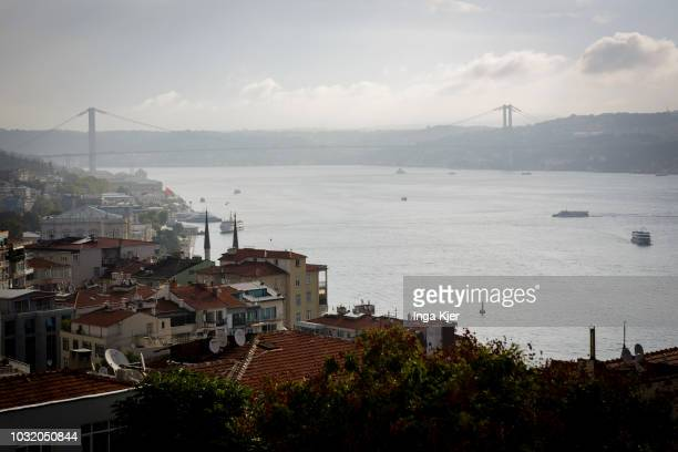 View of the Bosporus on September 06 2018 in Istanbul Turkey