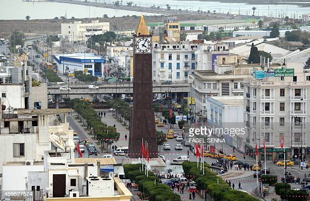 A view of the Bourgiba avenue in the Tunisian capital Tunis on November 24 2014 AFP PHOTO/FADEL SENNA