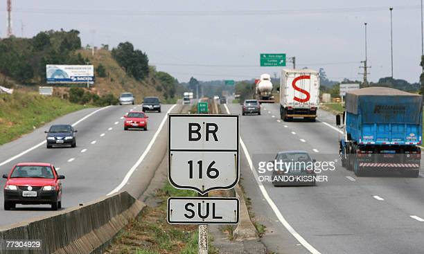 View of the BR116 South road in Curitiba south of Brazil which leads to Sao Paulo and Rio de Janeiro 11 October 2007 The tenders accepted by Spain's...
