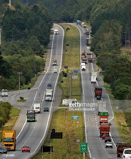 View of the BR116 South road in Curitiba south of Brazil which leads to Sao Paulo and Rio de Janeiro 11 October 2007 The tenders accepted by...
