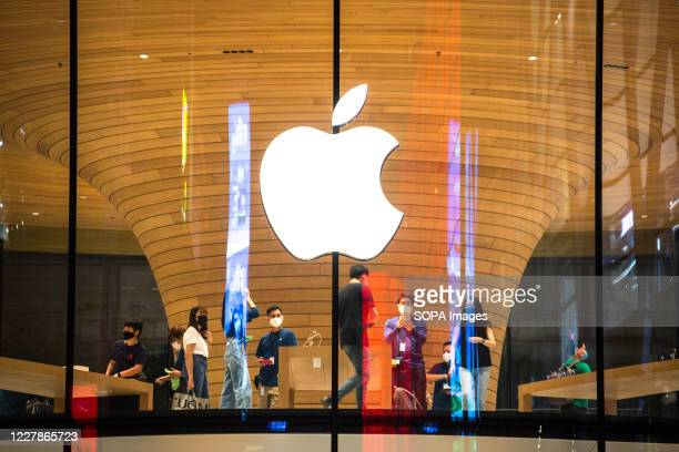 View of the brand new Apple Store at Central World during the first day opening event.