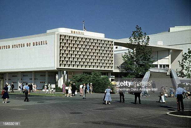 A view of the Brazil pavilion at the 1939 New York World's Fair in Flushing Meadows Queens New York City New York