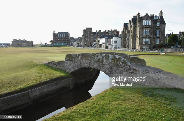 A view of the bridge over the burn on the 18th fairway during the Practice Round ahead of The Senior Open presented by Rolex at The Old Course on...