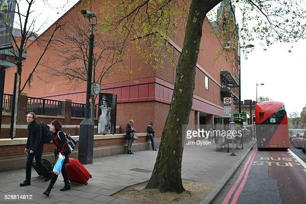 A view of the British Library beside St Pancras hotel on May 3 2016 in London England The Blitz aerial bombing offensive lasted for eight months...