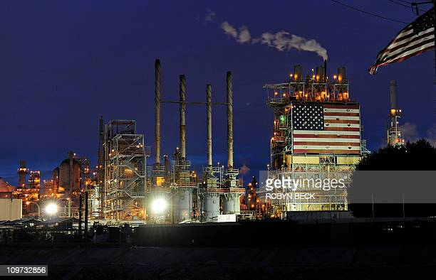 A view of the British Petroleum Carson refinery in Carson California March 2 2011 The refinery located 18 miles south of Los Angeles on 630 acres...