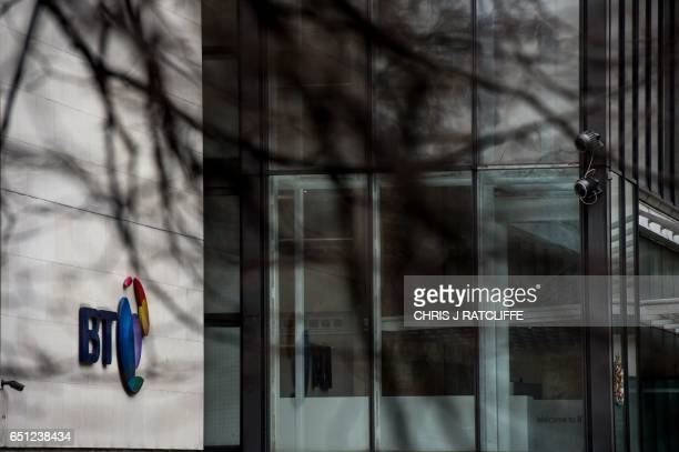 A view of the British Telecom headquarters in central London on March 10 2017 British telecoms giant BT Group has agreed to legally separate its...