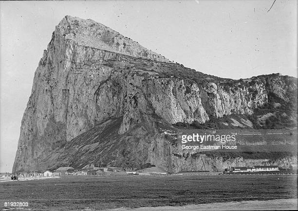 View of the British territory of Gibraltar, focused on the geographic feature known as the Rock of Gibraltar, 1910
