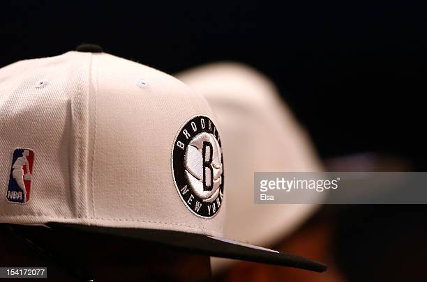 A view of the Brooklyn Nets logo during the game against the Washington Wizards during a preseason game at the Barclays Center on October 15 2012 in...