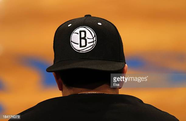 A view of the Brooklyn Nets logo on a hat during the game against the Washington Wizards during a preseason game at the Barclays Center on October 15...