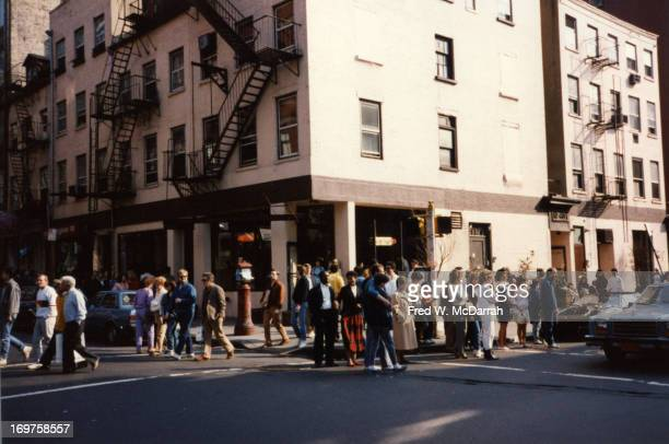 View of the building at the southeast corner of Spring and Wooster streets New York New York March 29 1987
