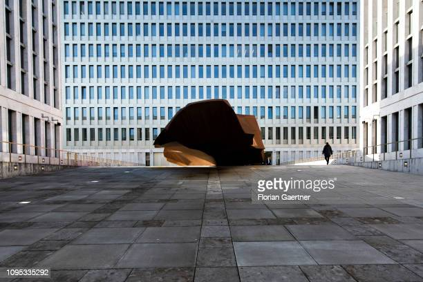 A view of the building of the Federal Intelligence Service headquarters which German Chancellor Angela Merkel will open today on February 08 2019 in...