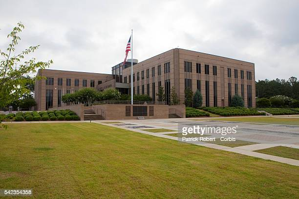 View of the building of the US elite Special Forces at Fort Bragg Fort Bragg is located just west of Fayetteville North Carolina As one of the...