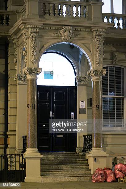 A view of the building where Orbis Business Intelligence Ltd is located in central London as former British intelligence officer Christopher Steele...