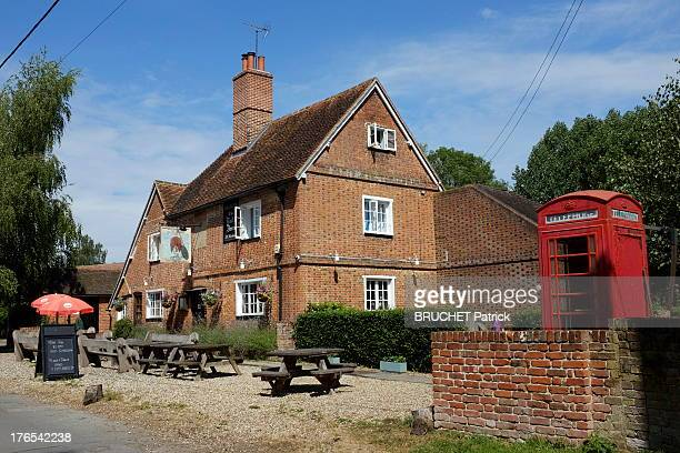 View of the Bull Inn Pub in Stanford Dingley near Bucklebury on July 27, 2013 in England. Bucklebury is the home of the Middleton family and where...