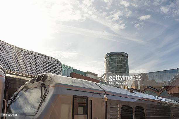 View of the bullring from Birmingham Moor Street train station, West Midlands, UK