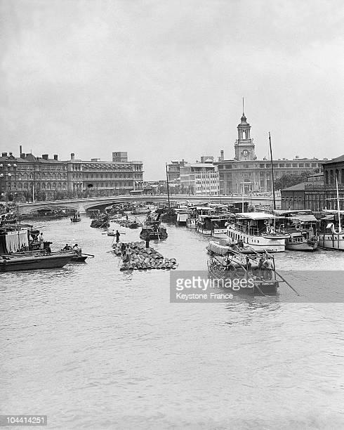 View of the Bund the European district of Shanghai around 19331934