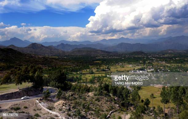 A view of the Buner district in the Pakistan�s troubled Swat valley on April 23 2009 Pakistan deployed paramilitary troops to northwestern districts...