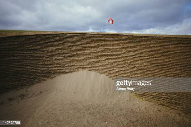 A view of the bunker on the 11th green during the Alfred Dunhill Cup held on 25th September 1986 at The Royal and Ancient Golf Club of St Andrews in...