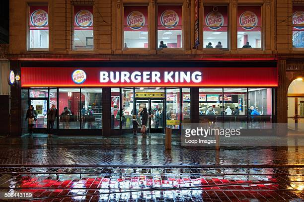 A view of the Burger King Restaurant in Manchester