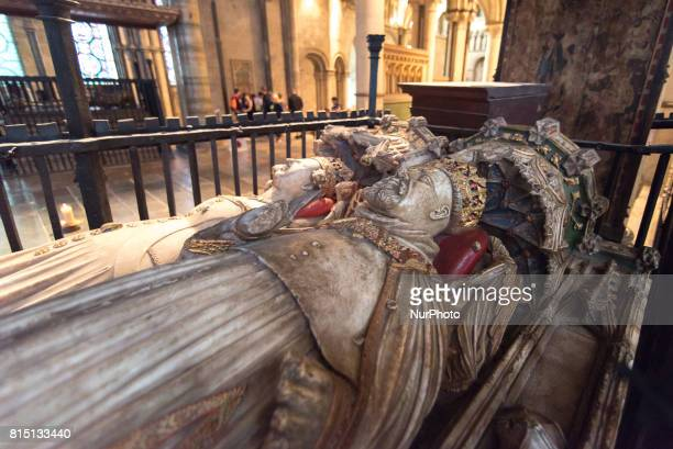 View of the burial of King Henry IV and Queen Joan of Navarre inside the Canterbury Cathedral Canterbury on July 15 2017 Canterbury Cathedral in...