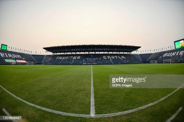 View of the Buriram stadium before the Thai League 2020 match between Buriram United and Port FC at Buriram Stadium. .