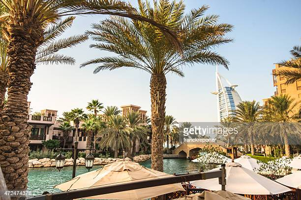 view of the burj al arab - jumeirah stock pictures, royalty-free photos & images