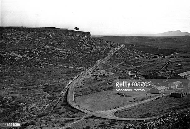 View of the Cadorna Fort during the First ItaloEthiopian War from 1885 to 1896 Ethiopia