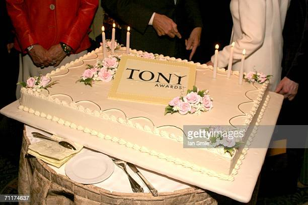 A view of the cake at The Tonys Awards Honor Presenters And Nominees at Waldorf Astoria in New York on June 10 2006 in New York