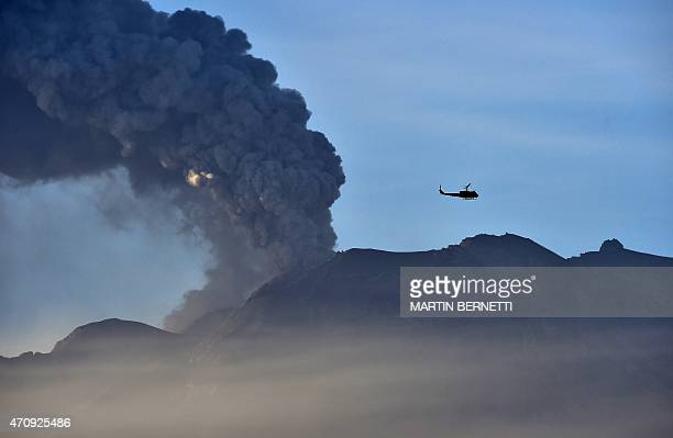 View of the Calbuco volcano in Puerto Varas, Chile on April 24, 2015. Southern Chile remained on alert Friday for another eruption from the Calbuco...