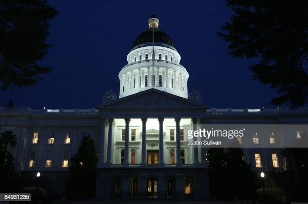 A view of the California State Capitol February 18 2009 in Sacramento California After days of wrangling the California State Senate secured the...