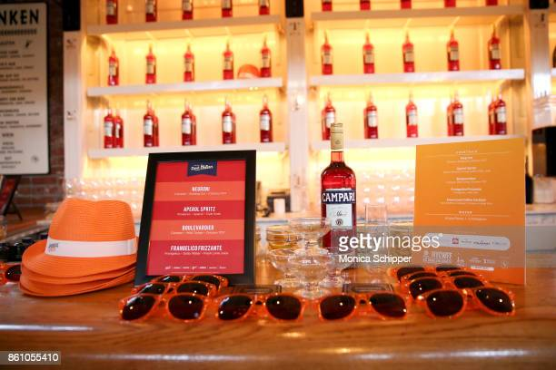 A view of the Campari on display during Aperitivo hosted by Scott Conant at The Standard High Line on October 13 2017 in New York City