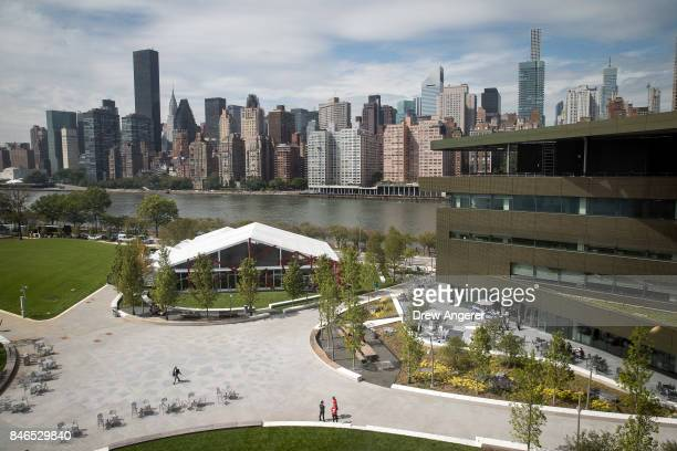 A view of the campus and the main academic building the Bloomberg Center on the new campus of Cornell Tech on Roosevelt Island September 13 2017 in...