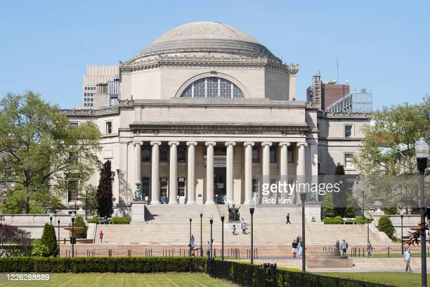 A view of the campus at Columbia University on May 21 2020 in New York City COVID19 has spread to most countries around the world claiming over...