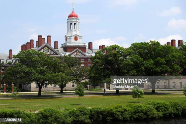 View of the campus of Harvard University on July 08, 2020 in Cambridge, Massachusetts. Harvard and Massachusetts Institute of Technology have sued...