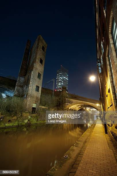 A view of the canal in the Castlefield area of Manchester