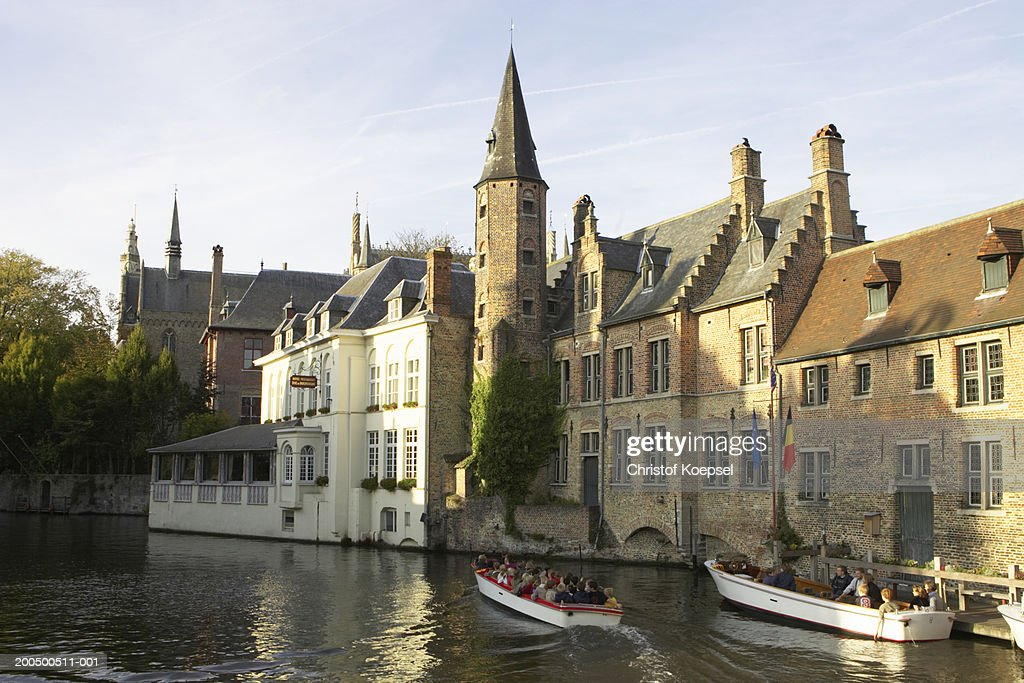 View of the canal in the old town : Stock Photo
