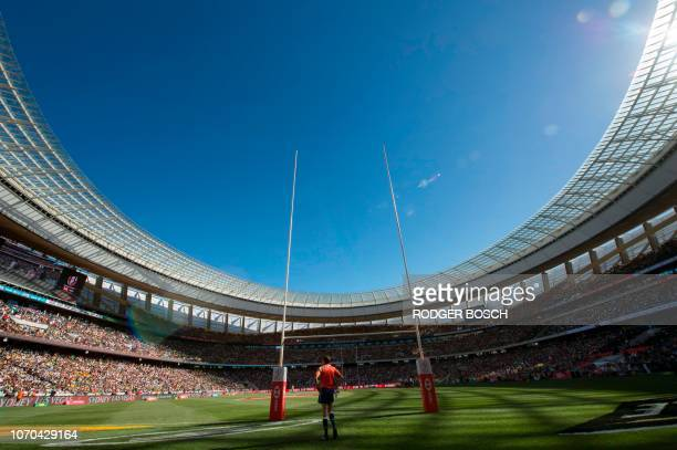 A view of the Cape Town Stadium during the HSBC World Rugby Sevens Series on December 9 in Cape Town