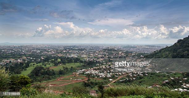 View of the capital city of Yaounde, Cameroon on October 29, 2012.