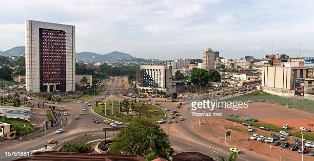 View of the capital city Yaounde, Cameroon on October 29, 2012.