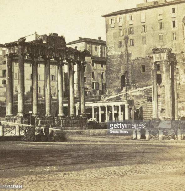 View of the Capitol with ruins of the Forum Romanum Rome Italy M Petagna c 1865 c 1920