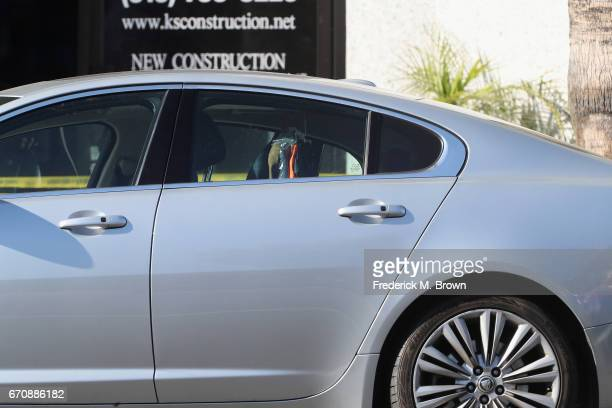 A view of the car where singer Cuba Gooding Sr was found dead on April 20 2017 in Woodland Hills California Gooding was 72 years old