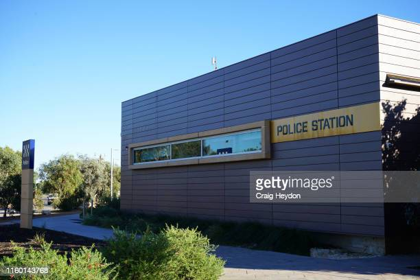View of the Carnarvon Police Station on June 20, 2019 in Carnarvon, Australia. Carnarvon is a coastal town situated approximately 900km north of...