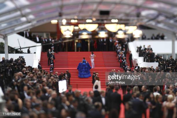 A view of the carpet during the 72nd annual Cannes Film Festival on May 14 2019 in Cannes France