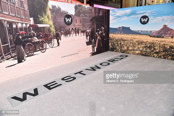 A view of the carpet is seen during the premiere of HBO's Westworld at TCL Chinese Theatre on September 28 2016 in Hollywood California