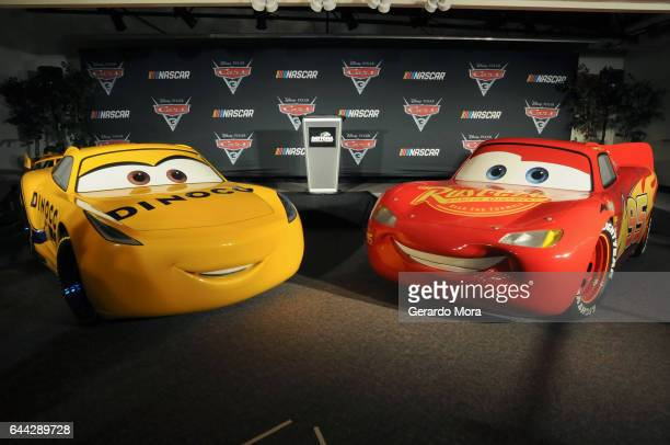 View of the 'Cars 3' NASCAR Collaboration Announcement on February 23 2017 in Daytona Beach Florida
