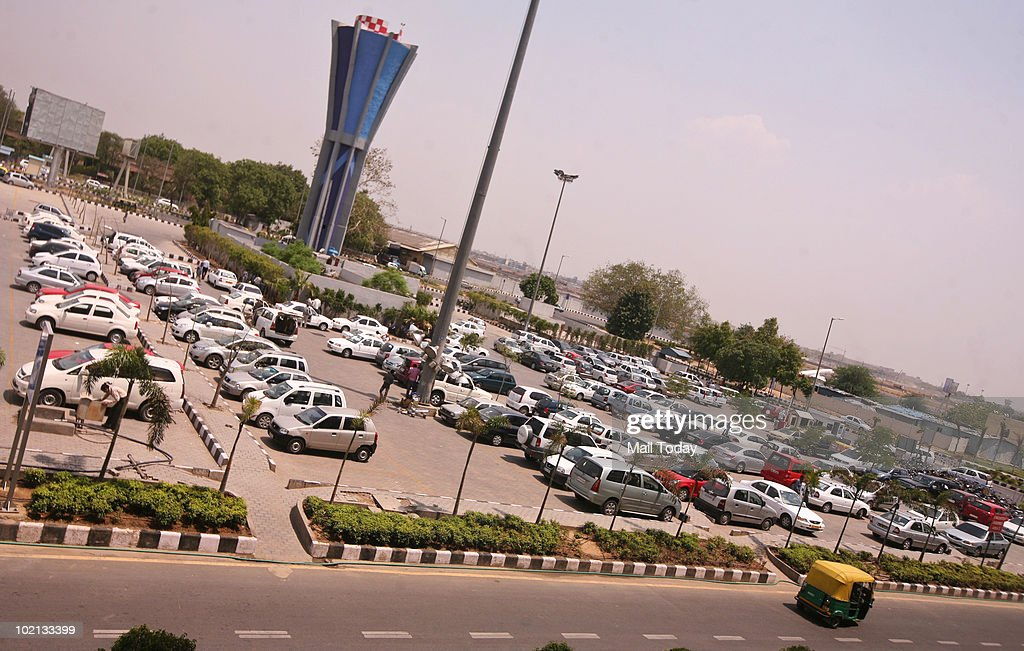 A view of the cars parked at the Delhi Airport. This is the highest paid parking of Delhi as the parking charges as high as Rs 750 for 24 Hours.