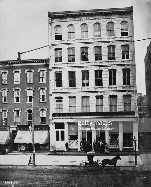 View of the Carson Pirie Scott building at 118120 State Street Chicago Illinois late 1860s