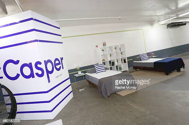 A view of the Casper mattresses during Casper's LA celebration at Blind Dragon on July 9 2015 in West Hollywood California