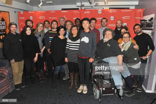 A view of the cast and crew of Minding The Gap at the premiere during the 2018 Sundance Film Festival at Egyptian Theatre on January 21 2018 in Park...