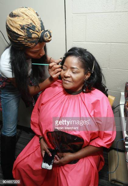 A view of the cast preparing backstage at Agape Love Musical Stage Play on January 13 2018 in Milwaukee Wisconsin